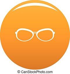 Farsighted glasses icon vector orange