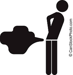 fart clip art symbol icon  rounded, white background