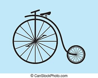 farthing, bicicletta, vettore, penny