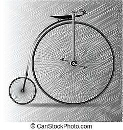 farthing, penny, bicicletta