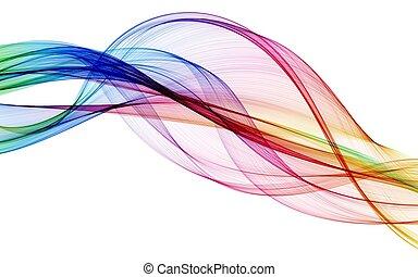 farve, abstrakt, komposition