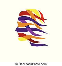 farve, abstrakt, vektor, anføreren, menneske