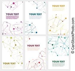 farve, abstrakt, vektor, netværk, sammenhænge