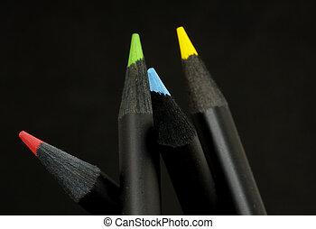 farve, blyanter