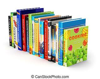 farve, hardcover, bøger