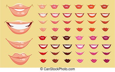 farve, læber
