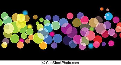 farve, prikker, klar, mønster