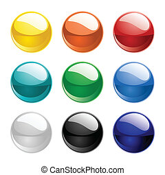 farve, spheres, vektor