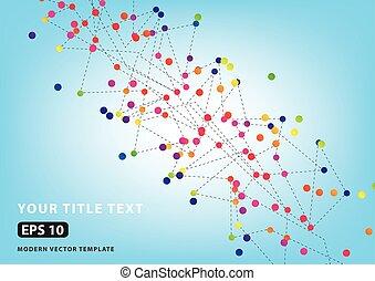 farve, vektor, prik