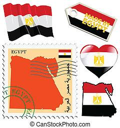farver, ægypten, national
