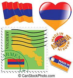 farver, national, armenien