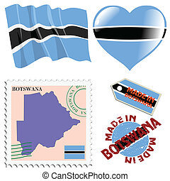 farver, national, botswana