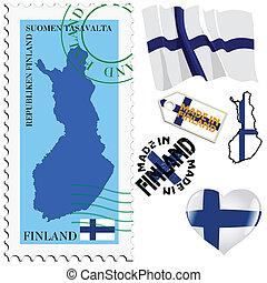 farver, national, finland