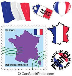 farver, national, frankrig