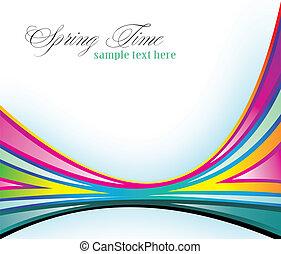 farver, regnbue, delicate, baggrund, forår