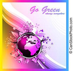 farver, regnbue, grøn baggrund, miljøbestemte