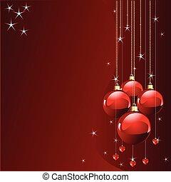 farver, sted, card christmas, rød