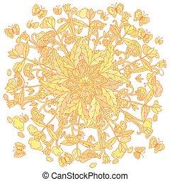 farver, tryk, blomstret skjorte, t