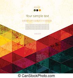 farverig, abstrakt, geometriske, baggrund
