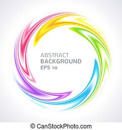 farverig, abstrakt, klar, baggrund, swirl, cirkel