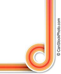 farverig, abstrakt, striber, space., vektor, baggrund, kreds, kopi