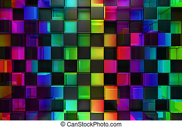 farverig, blokke, abstrakt, baggrund