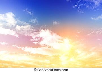 farverig, himmel