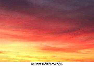 farverig, himmel, tekstur