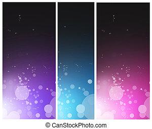 farverig, klar, abstrakt