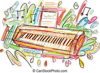 farverig, klaviatur