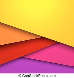 farverig, layered, abstrakt, space., vektor, baggrund, kopi