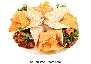 farverig, mexikansk mad