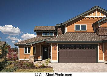 farverig, nyt hjem, konstruktion
