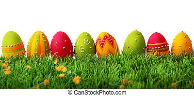 farverig, påske ægger