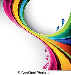 farverig, plaske, konstruktion