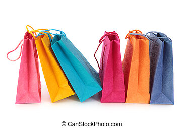 farverig, shopping bags