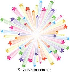 farverig, stjerner