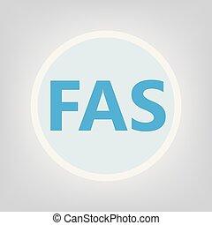 FAS (fetal alcohol syndrome) acronym- vector illustration
