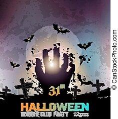 fasa, flygare, halloween, bakgrund, parti, poster, rädsla, eller