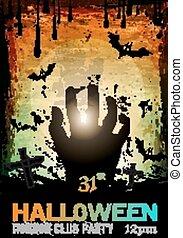 fasa, halloween, rädsla, parti, bakgrund