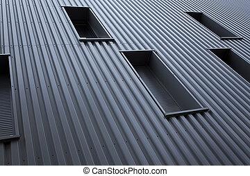 fasad, byggnad, nymodig