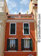 fasad, hus, bostads