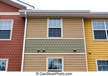 fasad, lägenhet, design