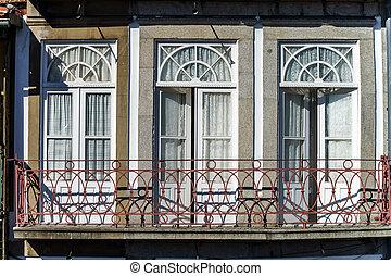 fasade, casa, viejo, clásico