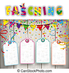 Fasching Confetti Ribbons 4 Price Stickers