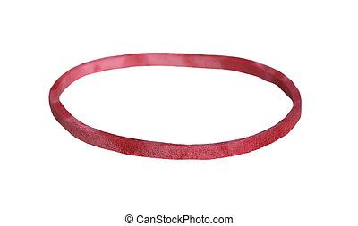 fascia polso, rosso, gomma, bianco