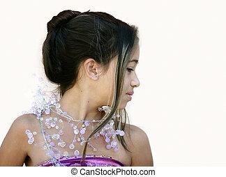 fascinante, menina asiática