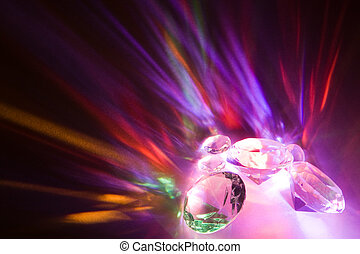 Fascinating rainbow colors due to light dispersion in crystals