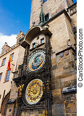 Fascinating very old Prague Astronomical Clock -Prague Orloj