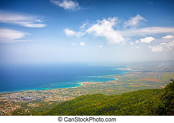 fascinating view on Puerto Plata city and Atlantic Ocean...
